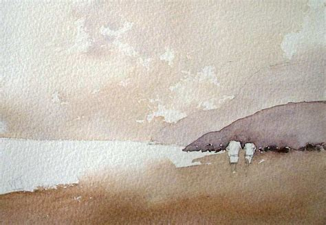 how to paint sand and hills with watercolor watercolour