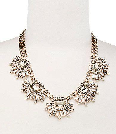 belle badgley mischka elegant stone statement necklace