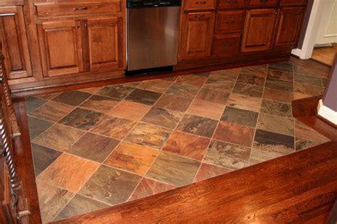 How did you transition between the wood and tile?