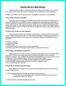 What Do You Need In A College Resume by The College Resume Template To Get A