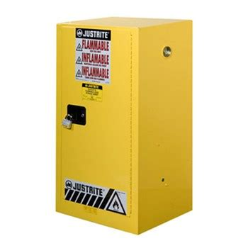 justrite compac safety cabinet for flammables 15 gallons