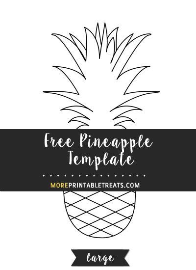 pineapple template large templates printable