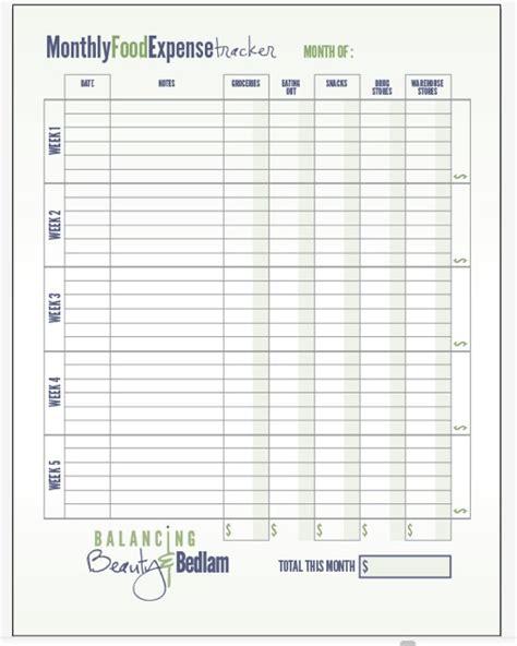 budgeting  food    handle   printable