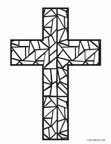 Coloring Cross Pages Easter Jesus Printable Colouring Stained Mosaic Glass Template Cool2bkids Crosses Getdrawings sketch template