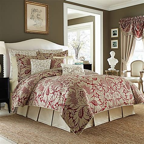 croscill 174 avery comforter set in red bed bath beyond