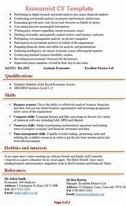 economist cv template 2 With economist resume