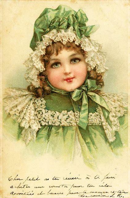 vintage victorian children french postcard  doodle place