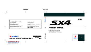 service and repair manuals 2010 suzuki sx4 instrument cluster download 2010 suzuki sx4 owner s manual pdf 297 pages