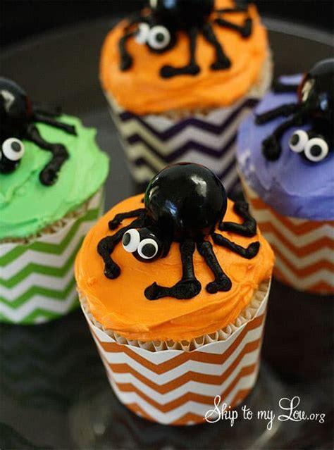 spider cupcakes   easy steps skip   lou