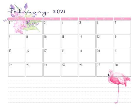 flamingo calendar weekly planner
