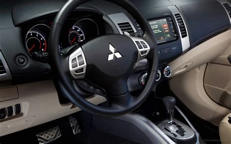 mitsubishi outlander gt interior wallpaper hd car
