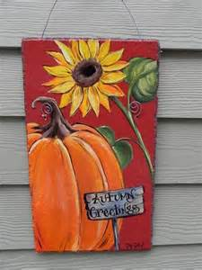 Welcome Autumn Pumpkin and Sunflower