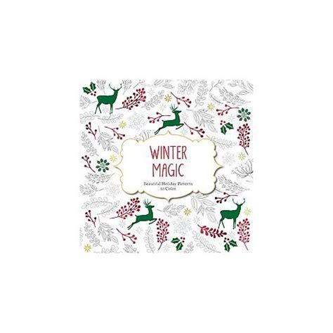 winter magic adult coloring book beautiful holiday