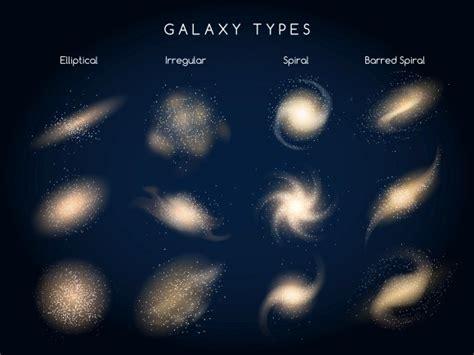Galaxy Types Vector Icons Graphics Creative Market