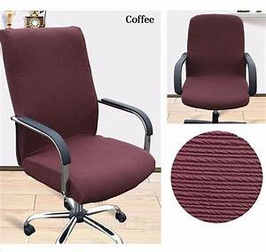 spandex stretch office computer chair cover side zipper With armchair side covers