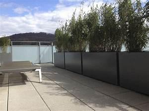 Brise Vue Sur Pied : jardini re design en fibre ciment brise vue vert sur le ~ Premium-room.com Idées de Décoration