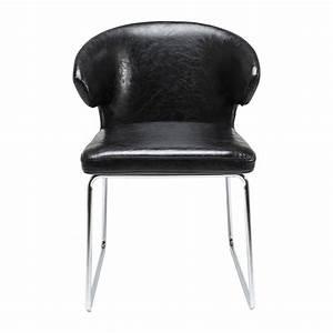 Chaise Noire Design : chaise moderne noire atomic kare design ~ Teatrodelosmanantiales.com Idées de Décoration