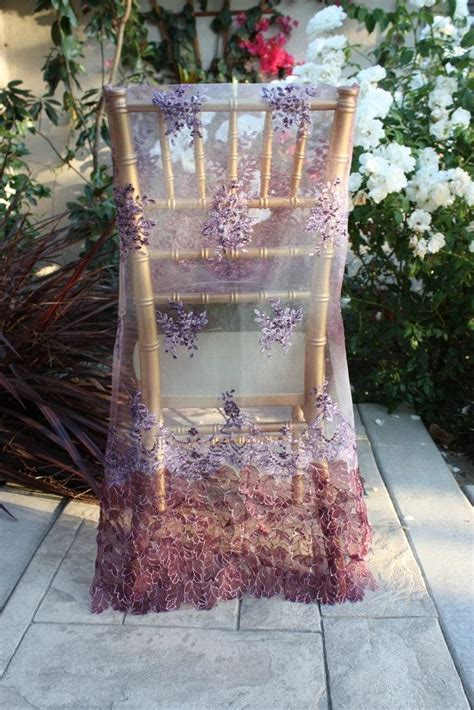 wedding chair cover purple bead work embroidery