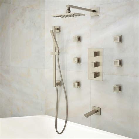 shower diverter onassis thermostatic tub shower system 6 sprays
