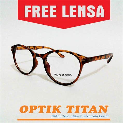 jual frame kacamata minus anti uv marck bulat leopard murah terbaru di lapak optik titan