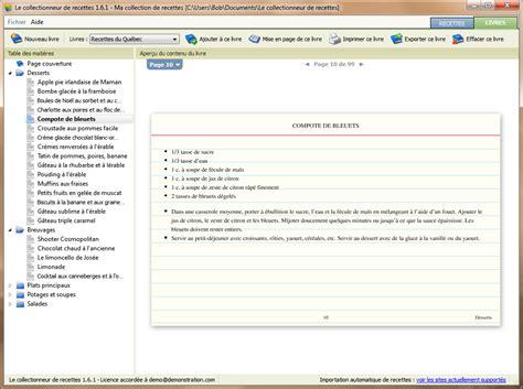 logiciel fiche technique cuisine le collectionneur de recettes logiciel de recettes et