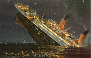 A Real Picture Of The Titanic Sinking by Iles Flottantes A Titanic Dessert Disaster Food For The