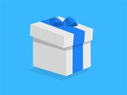 Gift Animation Open Isometric Gifs Reveal Inside