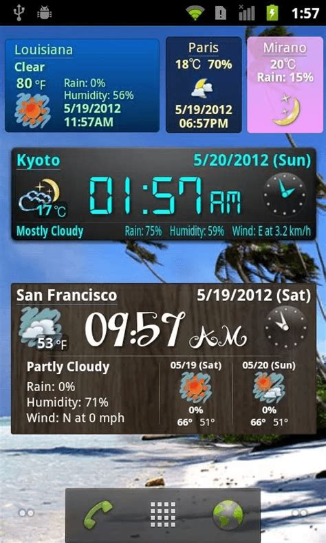 weather and clock widget for android free 10 best weather widgets for android