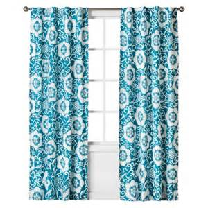 boho boutique taj reverse print curtain panel blue
