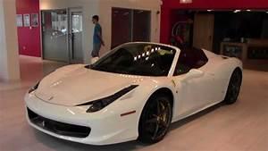 White Ferrari 458 Italia Spider!! - YouTube