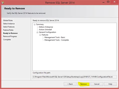 How To Uninstall Sql Server