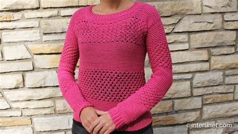 how to sweater how to crochet a sweater raspberry stich stripes