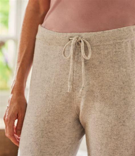 dove grey womens cashmere merino luxe lounge joggers