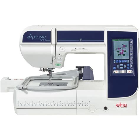 elna expressive  embroidery machine sew essential