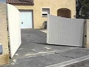 Portail Coulissant En Pente : portail aluminium motoris avec pente youtube ~ Premium-room.com Idées de Décoration