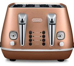 buy delonghi distinta cticp  slice toaster copper  delivery currys