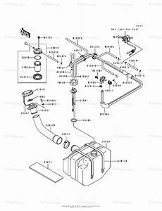 Kawasaki Jet Ski 1990 Oem Parts Diagram For Fuel Tank