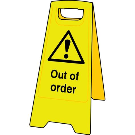 Caution Out Of Order Floor Sign Stand 4700