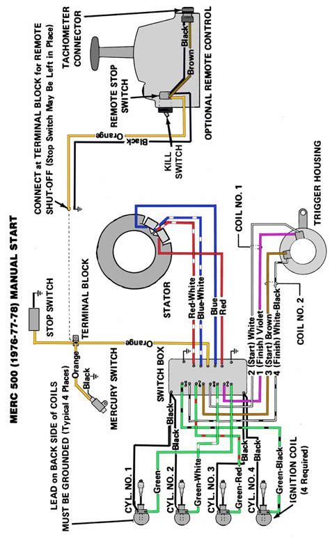 Mercury 650 Wiring Diagram by Mercury Outboard Wiring Diagrams Mastertech Marin