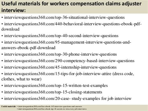 Claims Adjuster Questions by Top 10 Workers Compensation Claims Adjuster