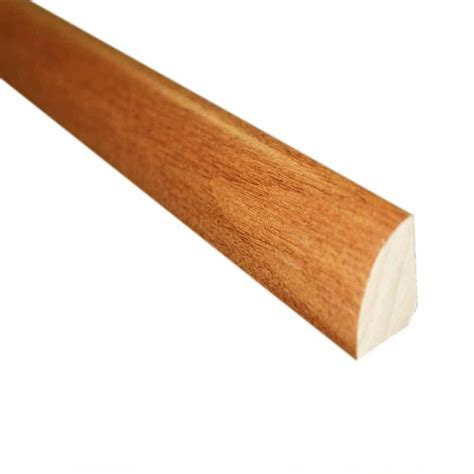 hardwood quarter cherry natural 3 4 in thick x 3 4 in wide x 78 in length hardwood quarter round molding