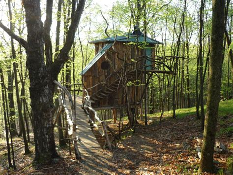 vermont treehouse compound spend   days   trees
