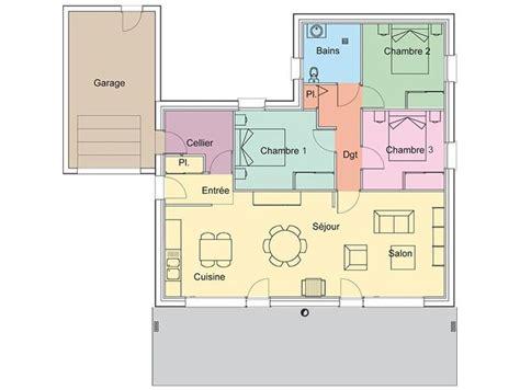 plan maison plein pied moderne 1000 ideas about plan maison plein pied on maison plein pied maison de plain pied