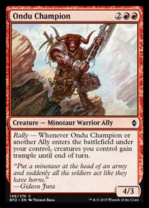 allies  battle  zendikar mtg red creatures