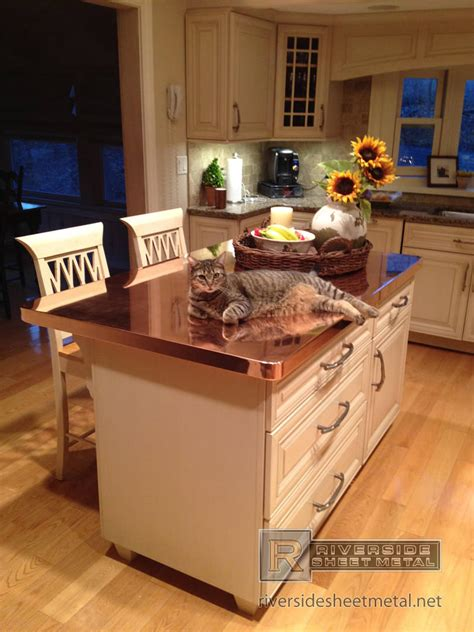 custom polished copper counter top counter tops
