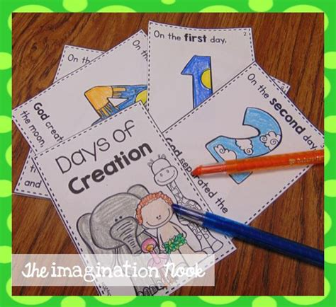 days of creation booklet christian education creation 665 | cab28ade34839f2d0991ea53e684bd89 creation day activities days of creation printable