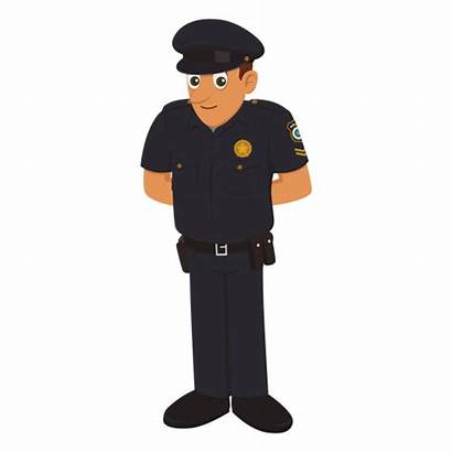 Police Cartoon Transparent Officer Policial Policeman Animados