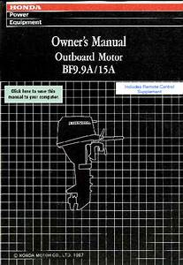 Outboard Motor Bf15a Manuals