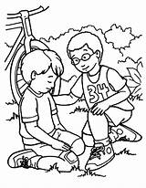 Kindness Coloring Pages Helping Friend Falling Showing Bike Bible Kind Sunday Samaritan Sheets Being Jesus Drawing Preschool Printable Colouring Kidsplaycolor sketch template
