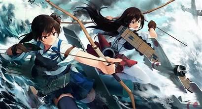 Kaga Akagi Kantai Kancolle Wallpapers Anime Computer